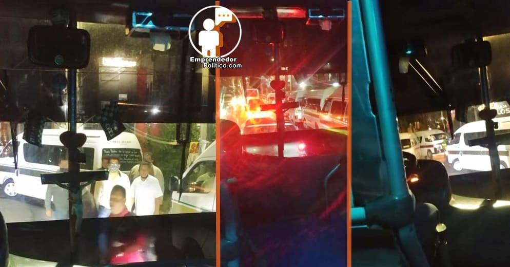 Choferes de personal denuncian ataques violentos e retención de unidades por cumbieros