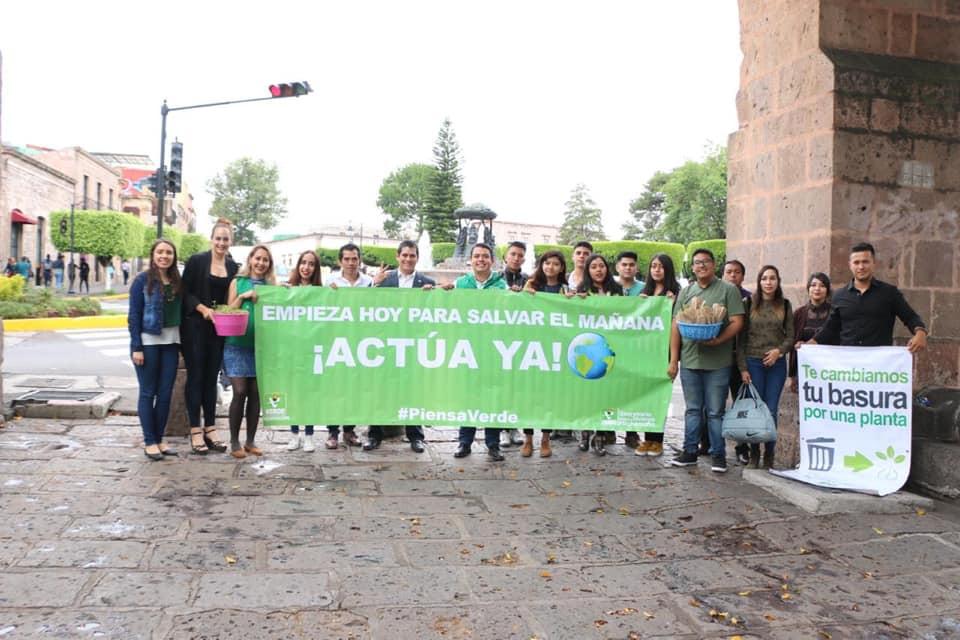Ernesto Nuñez y el PVEM de #Michoacán celebran el día mundial del medio ambiente de esta forma.
