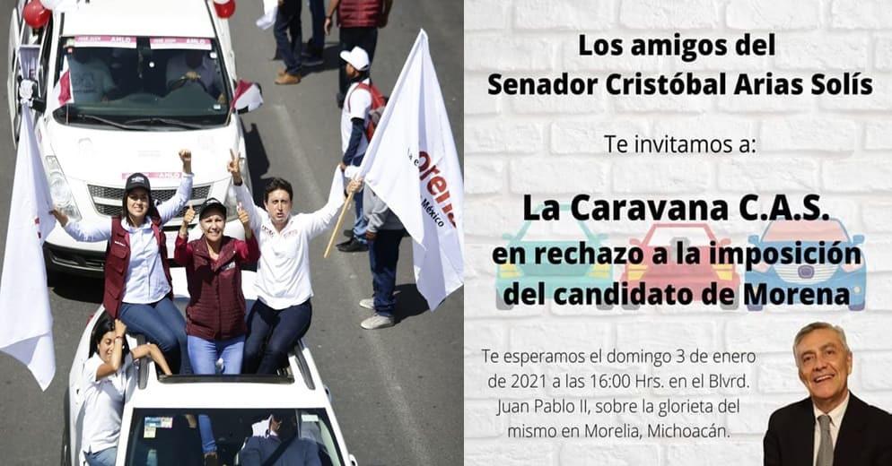 Este fin de semana en Morelia, Cristobalistas harán caravana contra imposición de Morena