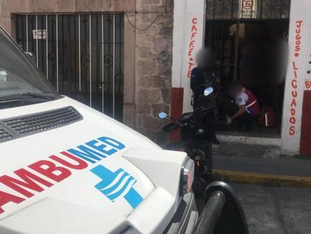 #QuéPoca: Delincuentes golpean y asaltan a un abuelito en el centro de Morelia