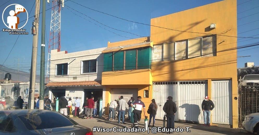 Habitantes de Morelia arman excursiones a CDMX para conseguir oxígeno