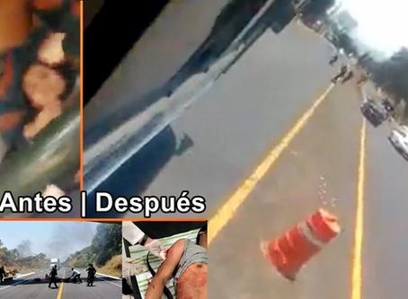 Elementos policiacos disparan contra autobús robado por presuntos normalistas. (+ VIDEOS)