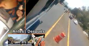 Elementos policíacos disparan contra autobús robado por presuntos normalistas (+ VIDEOS)