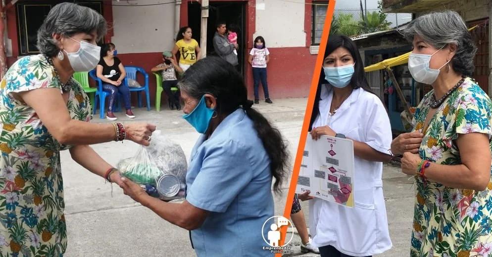 Diputada Mayela Salas gestiona despensas y asesoría médica a colonias de Uruapan