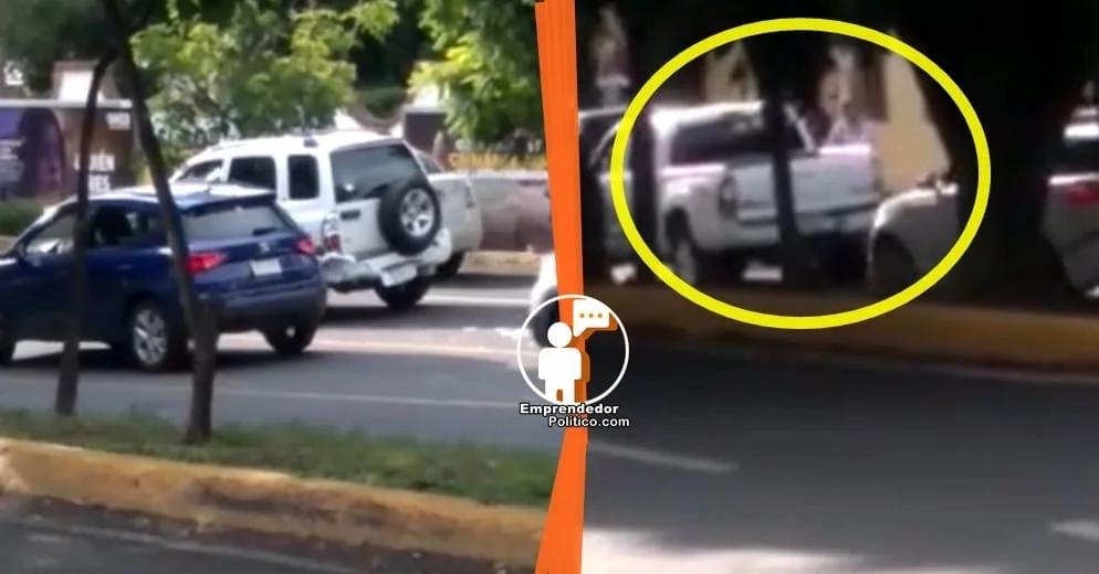 Morelia: Choca una camioneta, intenta escaparse y se lo impiden otros automovilistas (+Video)