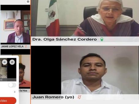 Juan Romero se reúne con Olga Cordero titular de la SEGOB para promover derechos humanos de LGBT