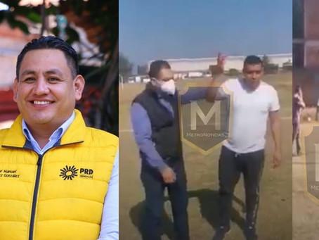 "Se deslinda Víctor Manríquez de trifulca en partido infantil; ""No tengo escoltas"", afirmó"