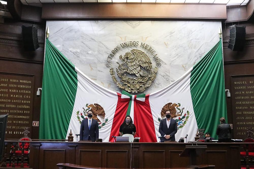 Por tercer día consecutivo de Sesión Virtual del Congreso de Michoacán, esto se abordó