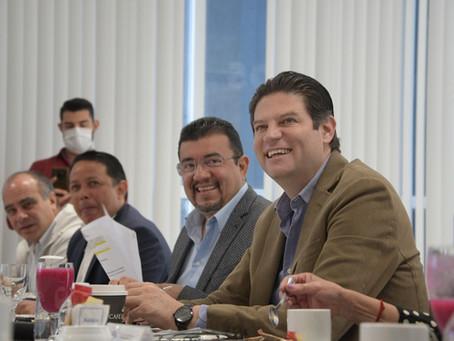 Alfonso Martínez y empresarios cierran filas para que Morelia retome el rumbo