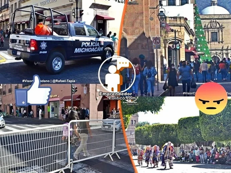 Morelia: Se confirma cierre total los domingos y entre semana a las 19 horas para negocios