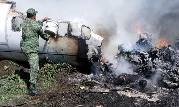 SIETE MUERTOS en accidente de aeronave de la Fuerza Aérea en Veracruz