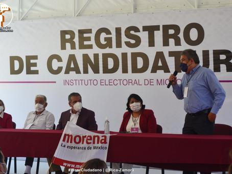 """""""Se cuidará que sustituto de Morón no sea externo y podría ser mujer"""": Morena Michoacán (+Video)"""