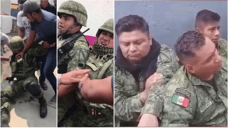 Golpean y humillan a militares en #Michoacán | Videos