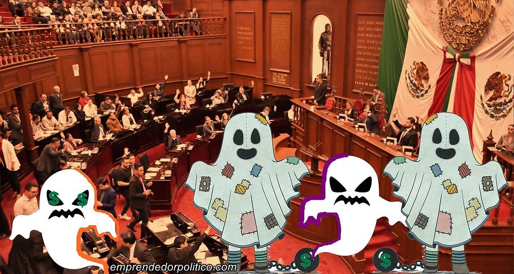Desde el inframundo, 4 diputados fantasmas votaron en la terna para eligir al presidente de la CEDH