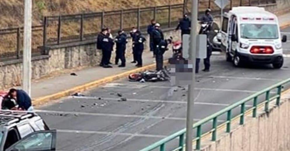 México: Conductor sigue y embiste a ladrones; lo robaron saliendo del banco