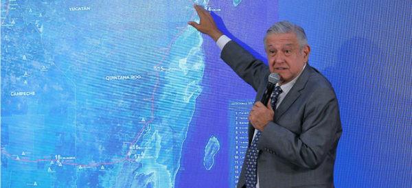IP construirá los 1,500 kilómetros de vías por donde correrá el Tren Maya: AMLO