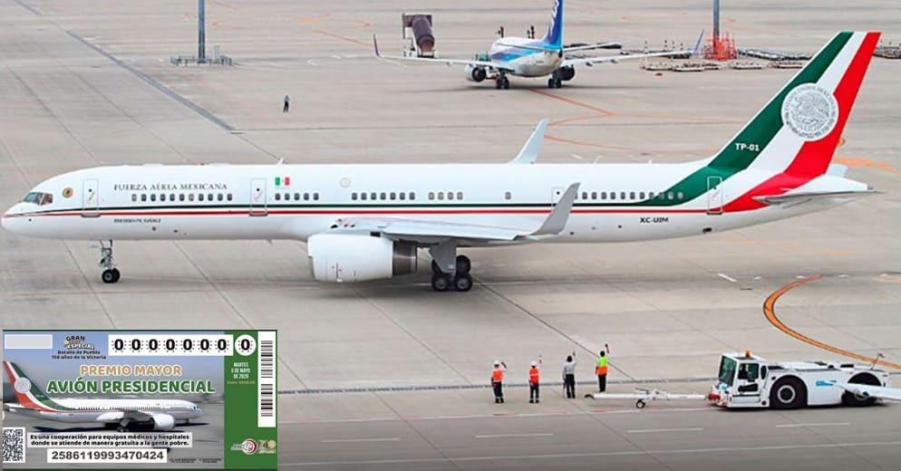 Avión presidencial por despegar; Gobierno mexicano revela oferta de 120 mdd