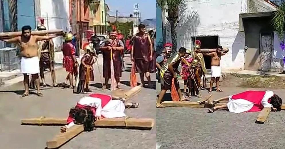 Ver para creer: En esta tenencia de Morelia se realizó el viacrucis en plena cuarentena