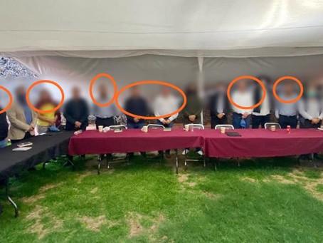 """¿""""Contagiadero"""" de COVID-19 en liderazgos de Morena? Uno de los personajes de esta foto dio positivo"""