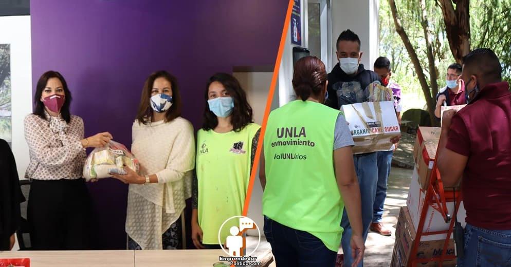 UNLA entrega despensas a la Junta de Asistencia Privada Michoacán