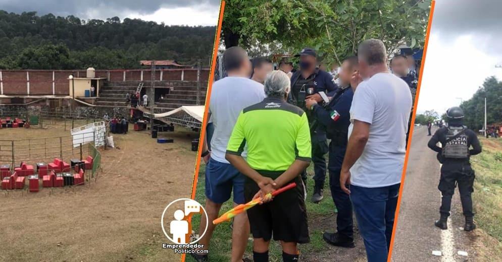 Desmantelan 4 eventos masivos en diferentes municipios de Michoacán para prevenir el COVID-19