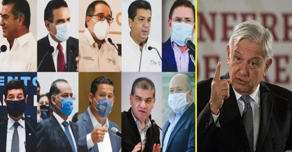 La defensiva de la 4T: AMLO acusa que gobernadores de Alianza Federalista deben impuestos