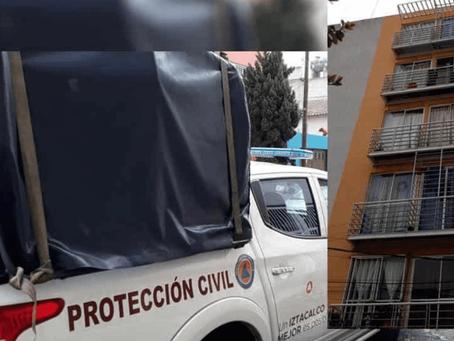 Autoridades ponen un ´hasta aquí´ al ´don verg...s´ que colgó un tinaco de agua en su balconcito