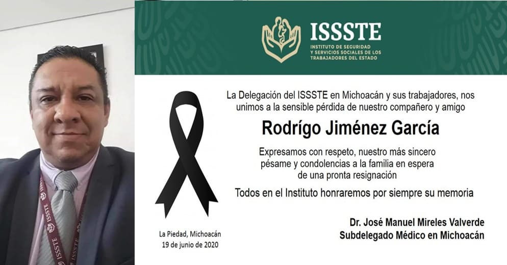 Fallece otro médico michoacano por COVID-19; se trata del Director del ISSSTE en la Piedad
