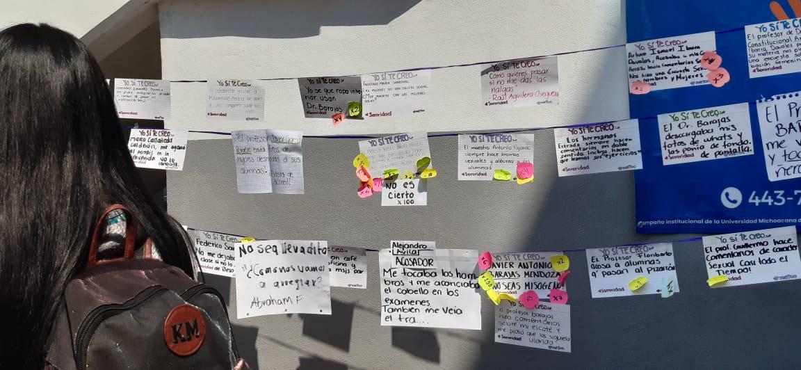 Arranca UMSNH nueva semana de clases con nuevo tendedero de acoso ahora en Contabilidad