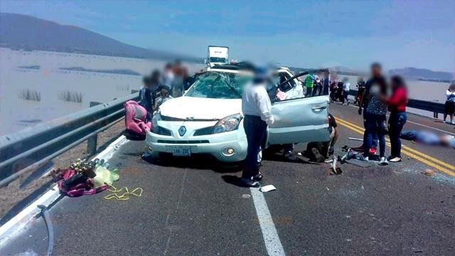 Accidente en la carretera Morelia - Cuitzeo
