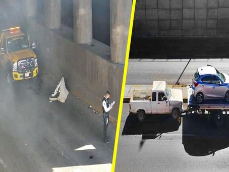 Se registra carambola vehicular en el periférico norte de Morelia