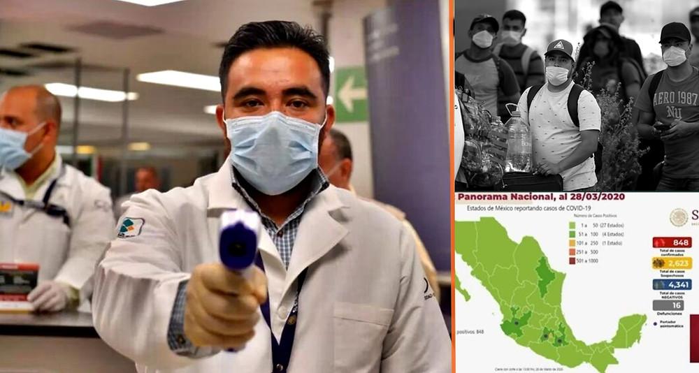 Ascienden a 20 los muertos por covid-19 en México y los casos positivos se acercan al millar