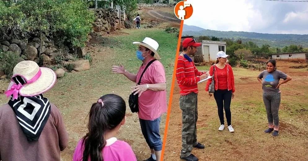 Salvador Arvizu realiza censo en comunidad de Cuanajillo del Toro para la creación de Telesecundaria