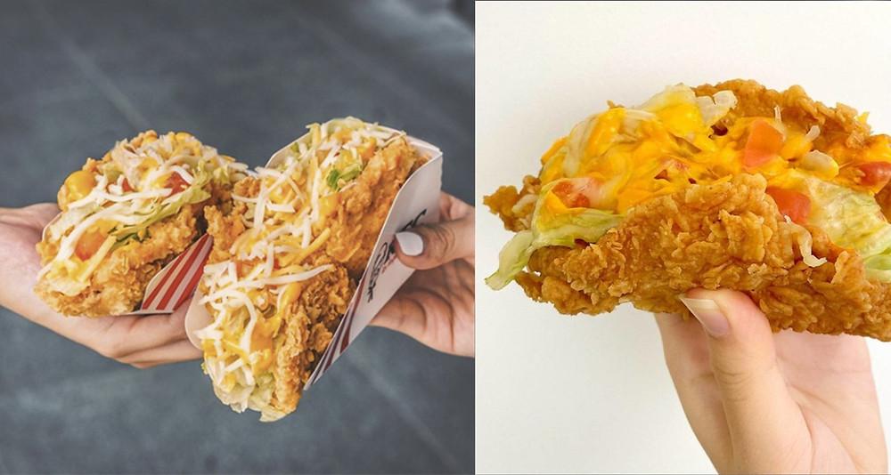 Los tacos con tortilla de pollo de Kentucky que están en boca de todos