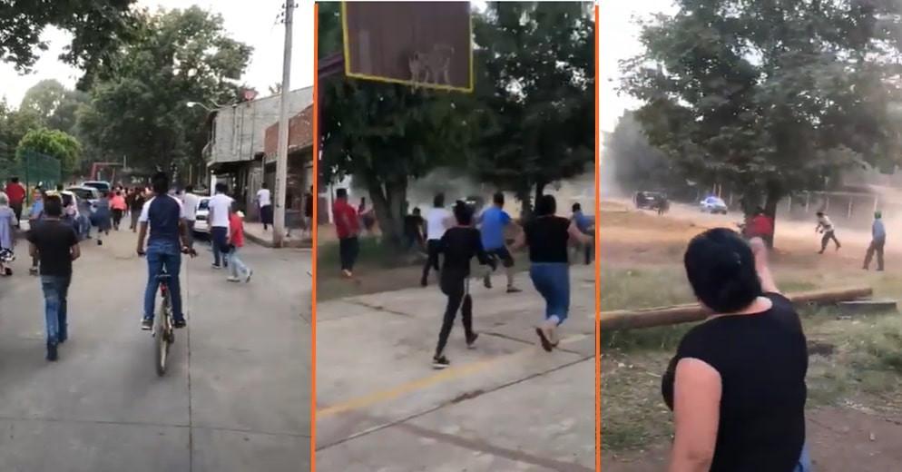#PasaEnMichoacán: Con piedras y palos, atacan a policías tras pedirles no jugar fútbol