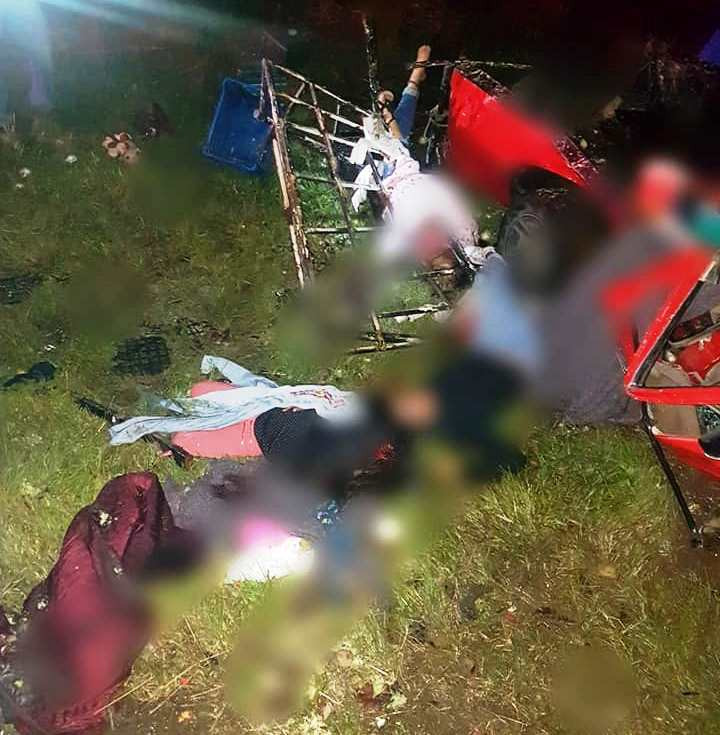 Mueren 5 mujeres y resultan heridas 10 personas en accidente por Tenencia Capula