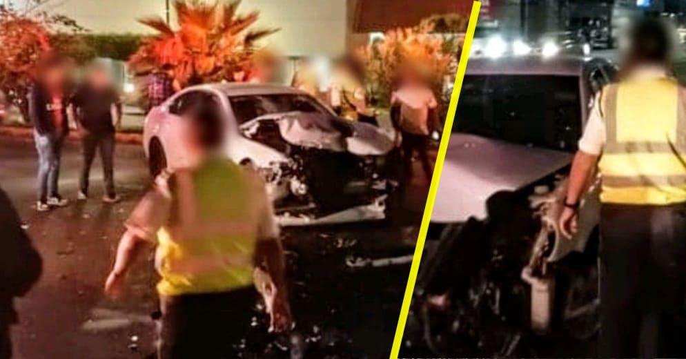 #ÚltimaHora: Carambola vehícular deja 4 heridos; un vehículo huyó