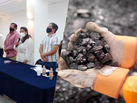 María Chávez y la Federación de mineros buscan reactivar la economía extractiva de Michoacán