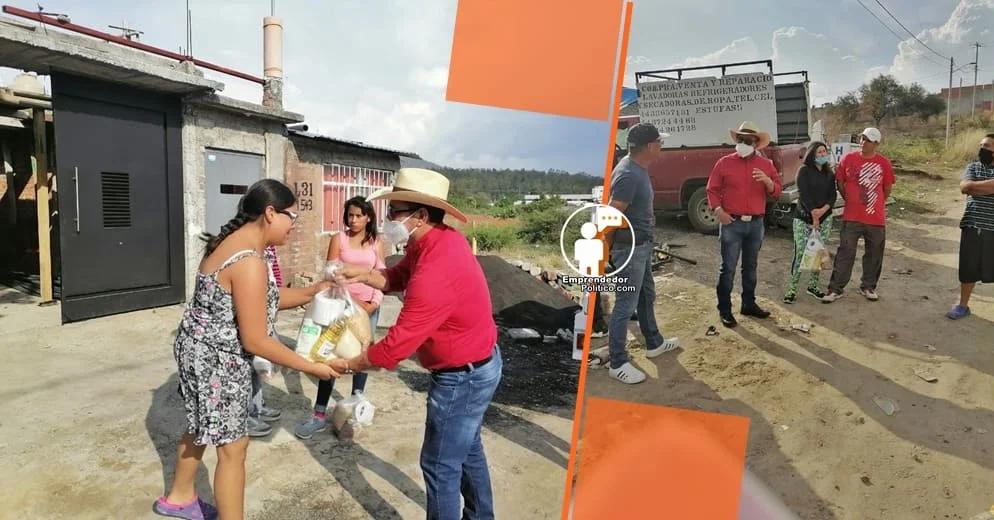 Tras autoaislarse y salir negativo por COVID, Salvador Arvizu reactiva los apoyos alimentarios