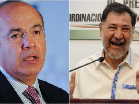 Noroña desea pronta recuperación por COVID a Calderón: sana para poderte llevar a la cárcel