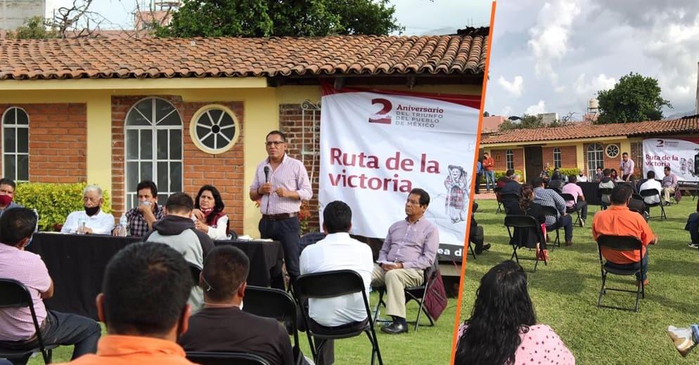 CEE de Morena en Michoacán celebró por la unidad, asambleas distritales en Zitácuaro e Hidalgo