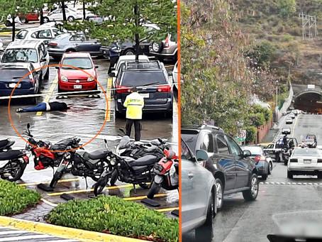 Matan a hombre en Plaza Altozano; un agresor en moto de Uber Eats es detenido  (+Video)