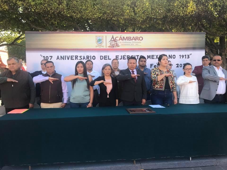 Celebran en Acámbaro al Ejército Mexicano - Emprendedorpolitico.com