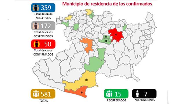Michoacán llega a 50 casos de COVID en más de 10 municipios, pero ya se han recuperado 11 pacientes