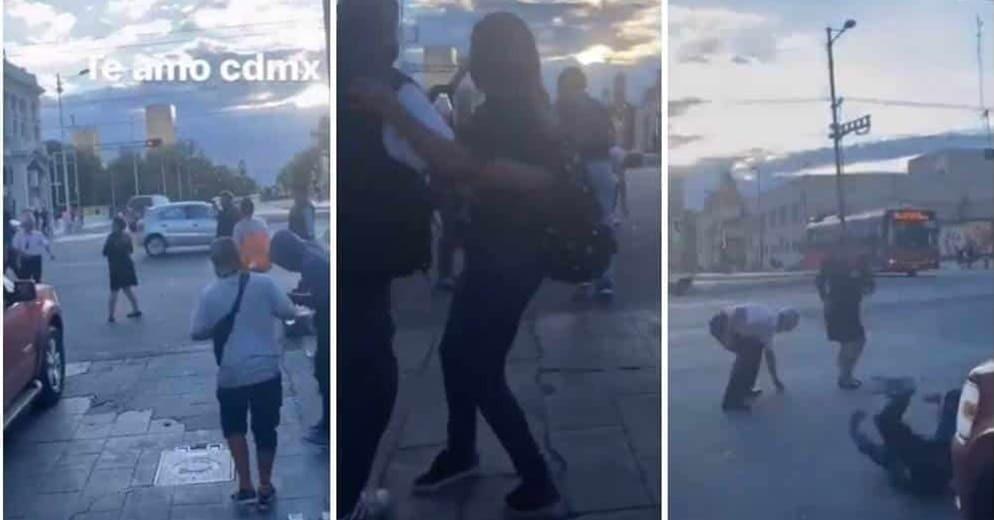 Al ritmo de ´La Chona´ se arma bailongo en cruce de Bellas Artes (+Video)