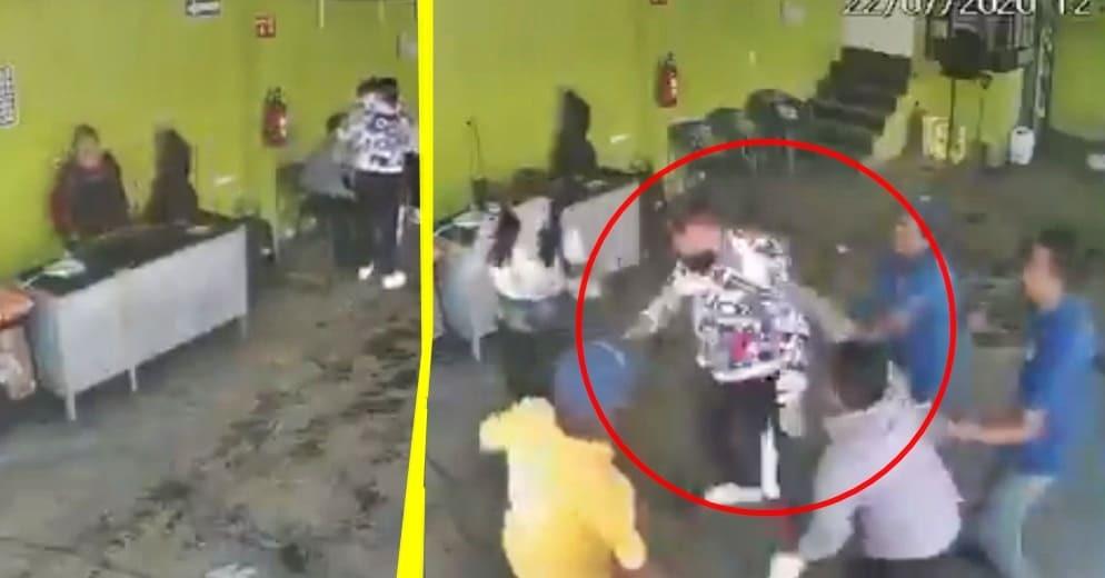 Golpizas a ladrones no paran... ahora fue en puesto de quesadillas (+Video)