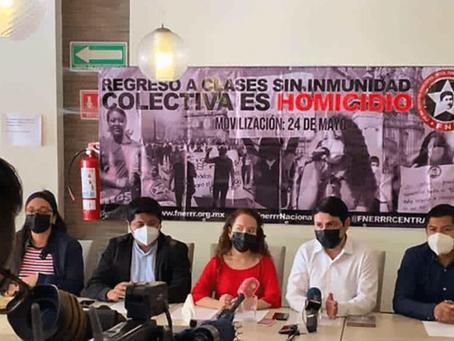 """""""Regreso a clases es un homicidio"""", advierte Federación de Estudiantes y anuncian movilizaciones"""