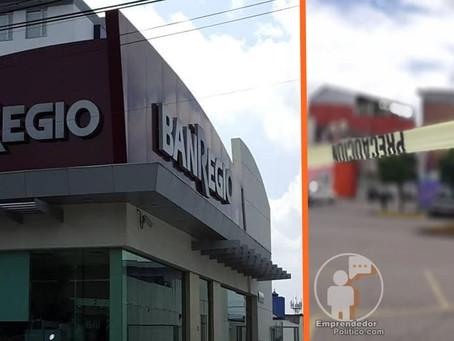 Tres encapuchados asaltan sucursal bancaria en Morelia