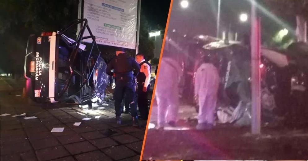 Muere elemento de la policía y otro resulta herido tras impacto vehícular esta mañana en Morelia