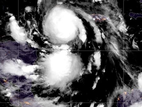 Huracán Delta alcanza la categoría 4 en su trayectoria hacia #México